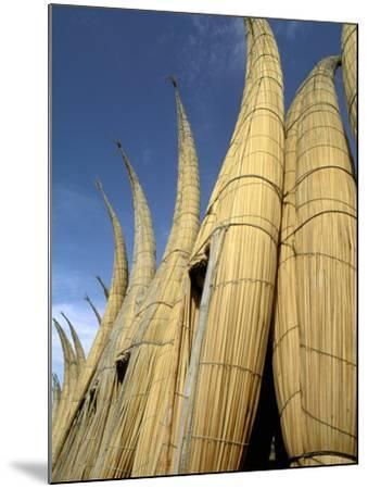 Reed Boats, Cabillitos de Totora, Huanchaco, Peru-Pete Oxford-Mounted Photographic Print