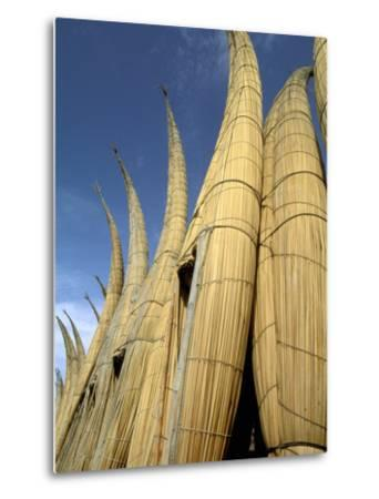 Reed Boats, Cabillitos de Totora, Huanchaco, Peru-Pete Oxford-Metal Print