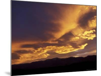 Clouds at Sunset from Artists Drive, Death Valley National Park, California, USA-Jamie & Judy Wild-Mounted Photographic Print