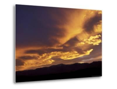 Clouds at Sunset from Artists Drive, Death Valley National Park, California, USA-Jamie & Judy Wild-Metal Print