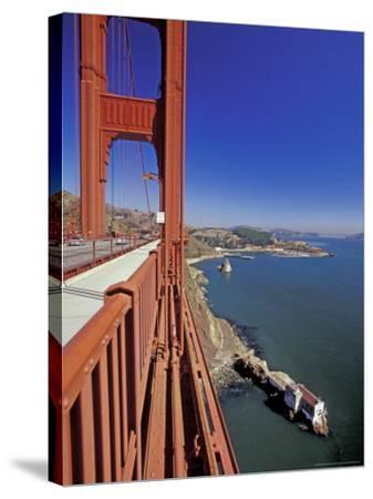 View North from Golden Gate Bridge, San Francisco, California, USA-William Sutton-Stretched Canvas Print