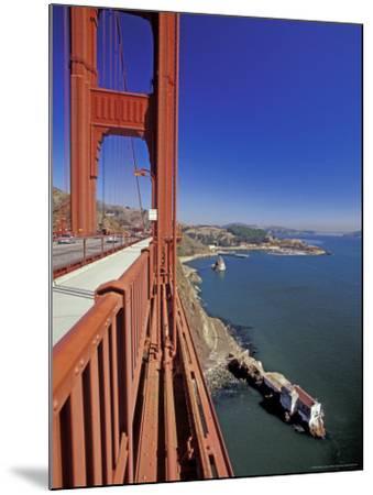 View North from Golden Gate Bridge, San Francisco, California, USA-William Sutton-Mounted Photographic Print