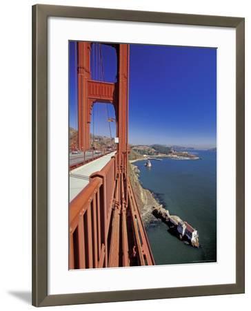 View North from Golden Gate Bridge, San Francisco, California, USA-William Sutton-Framed Photographic Print