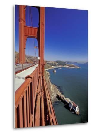 View North from Golden Gate Bridge, San Francisco, California, USA-William Sutton-Metal Print