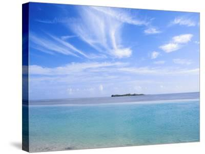 Lone Island in Ocean, Florida Keys, Florida, USA-Terry Eggers-Stretched Canvas Print