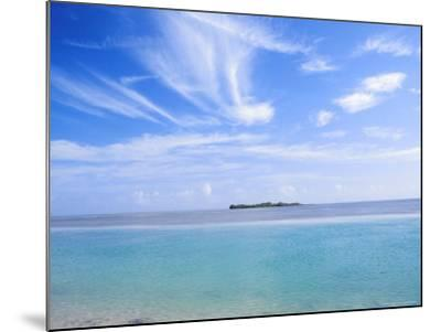 Lone Island in Ocean, Florida Keys, Florida, USA-Terry Eggers-Mounted Photographic Print