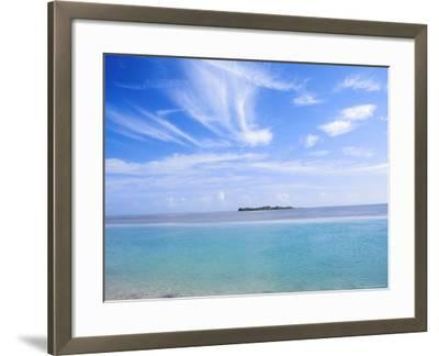 Lone Island in Ocean, Florida Keys, Florida, USA-Terry Eggers-Framed Photographic Print