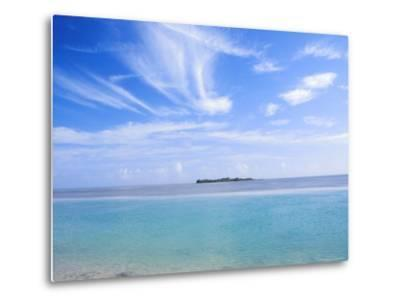 Lone Island in Ocean, Florida Keys, Florida, USA-Terry Eggers-Metal Print
