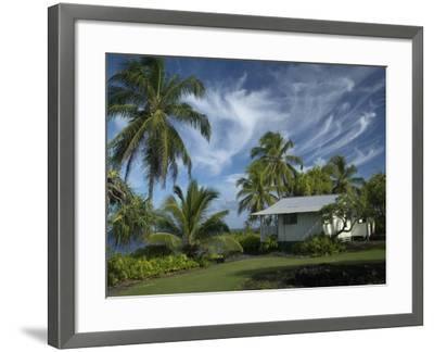 House at Kalahu Point near Hana, Maui, Hawaii, USA-Bruce Behnke-Framed Photographic Print