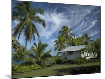 House at Kalahu Point near Hana, Maui, Hawaii, USA-Bruce Behnke-Mounted Photographic Print