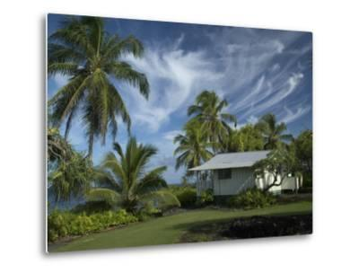 House at Kalahu Point near Hana, Maui, Hawaii, USA-Bruce Behnke-Metal Print