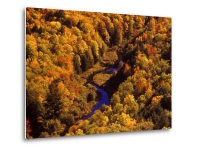 Big Carp River, Porcupine State Park, Michigan, USA-Chuck Haney-Metal Print