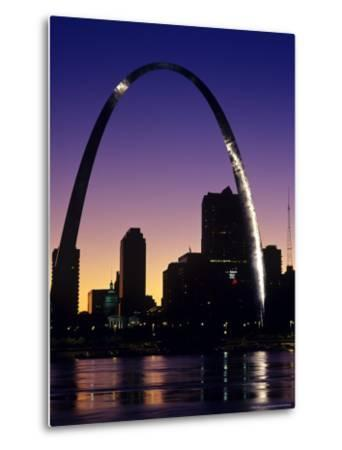 Looking Across the Mississippi River to St Louis, USA-Chuck Haney-Metal Print