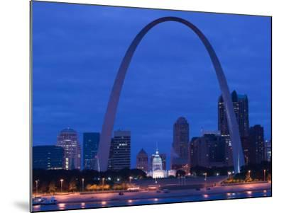 Old Courthouse and Gateway Arch Area along Mississippi River, St. Louis, Missouri, USA-Walter Bibikow-Mounted Photographic Print
