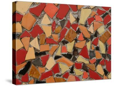 Close-up of Bright Pieces of Tile in a Colorful Mosaic--Stretched Canvas Print