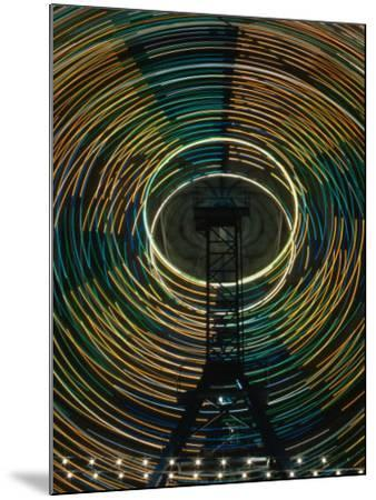 Lights of the Ferris-Wheel at the Royal Melbourne Agricultural Show, Melbourne,Victoria, Australia-Dallas Stribley-Mounted Photographic Print