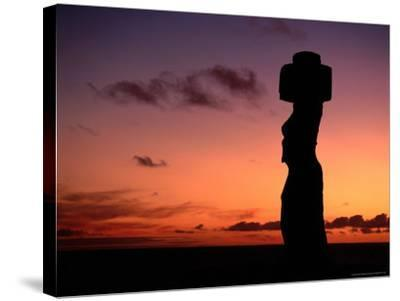 Ancient Moai at Ahu Ko Te Riku at Sunset, Easter Island, Valparaiso, Chile-Jan Stromme-Stretched Canvas Print