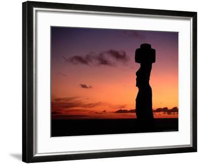 Ancient Moai at Ahu Ko Te Riku at Sunset, Easter Island, Valparaiso, Chile-Jan Stromme-Framed Photographic Print