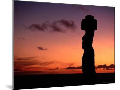 Ancient Moai at Ahu Ko Te Riku at Sunset, Easter Island, Valparaiso, Chile-Jan Stromme-Mounted Photographic Print