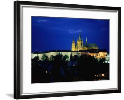 Historic Prague Castle or Hradcany Castle, Prague, Central Bohemia, Czech Republic-Jan Stromme-Framed Photographic Print