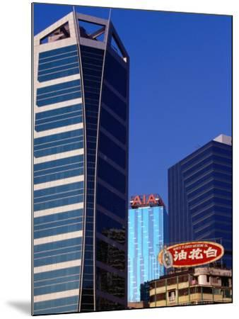 Old and New Buildings at Causeway Bay, Hong Kong, China-Lawrence Worcester-Mounted Photographic Print