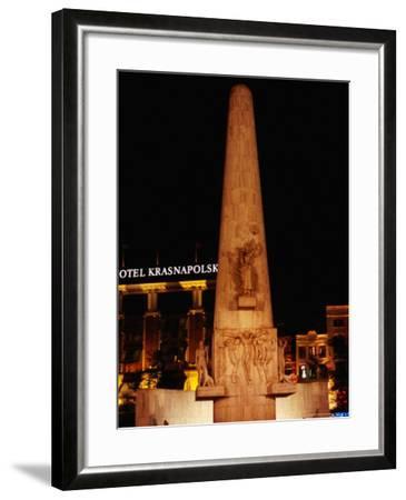 National Monument at Dam Square, Amsterdam, Netherlands-Richard Nebesky-Framed Photographic Print