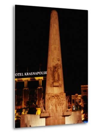 National Monument at Dam Square, Amsterdam, Netherlands-Richard Nebesky-Metal Print