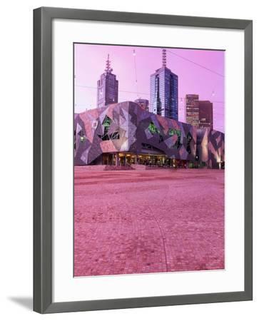 Federation Square at Dusk, Melbourne, Australia-John Banagan-Framed Photographic Print