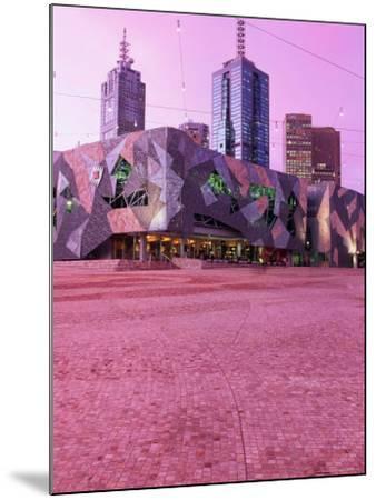 Federation Square at Dusk, Melbourne, Australia-John Banagan-Mounted Photographic Print