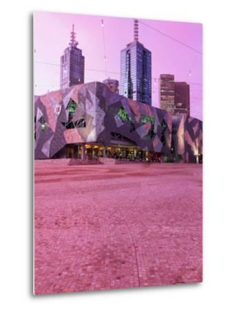 Federation Square at Dusk, Melbourne, Australia-John Banagan-Metal Print