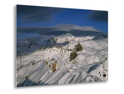 Bellecote Glacier, La Plagne, Savoy, France-Richard Nebesky-Metal Print