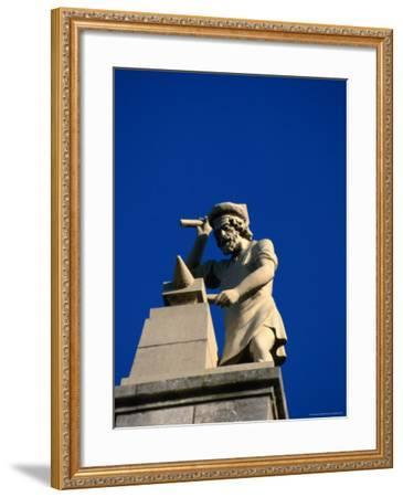 Figure of a Blacksmith on the Roof of the Rijksmuseum, Amsterdam, Netherlands-Martin Moos-Framed Photographic Print
