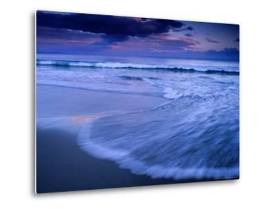 Wave on Shore of Neck Beach at Sunset, Bruny Island, Tasmania, Australia-Gareth McCormack-Metal Print