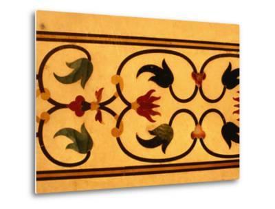 Detail of Inlay Work on Taj Mahal, Agra, Uttar Pradesh, India-Richard I'Anson-Metal Print