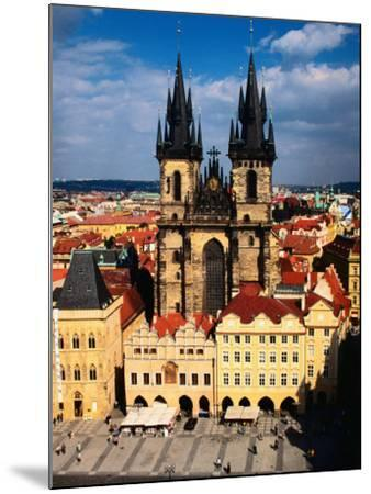 Tyn Church and Old Town Square Seen from Old Town Hall, Prague, Czech Republic-Jonathan Smith-Mounted Photographic Print