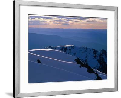 Ridges from Mt. Carruthers in Winter, Kosciuszko National Park, New South Wales, Australia-Grant Dixon-Framed Photographic Print