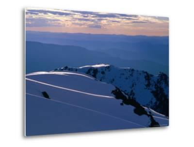 Ridges from Mt. Carruthers in Winter, Kosciuszko National Park, New South Wales, Australia-Grant Dixon-Metal Print