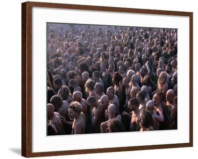 Crowds of Naga Sadhus During Maha Kumbh Mela Festival, Allahabad, India-Anders Blomqvist-Framed Photographic Print