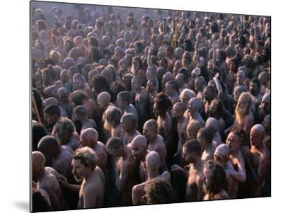 Crowds of Naga Sadhus During Maha Kumbh Mela Festival, Allahabad, India-Anders Blomqvist-Mounted Photographic Print