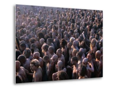 Crowds of Naga Sadhus During Maha Kumbh Mela Festival, Allahabad, India-Anders Blomqvist-Metal Print