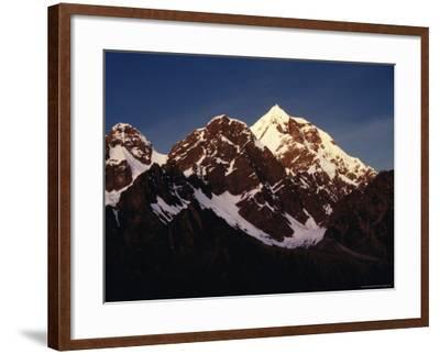 Mountain Peak with Snow, Puno, Vilcanota, Cuzco, Peru-Richard I'Anson-Framed Photographic Print