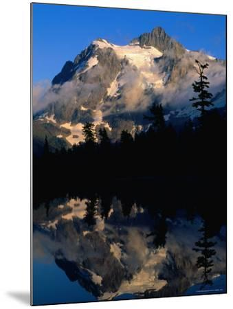 Mt. Shuksan Reflected on Picture Lake, Mt. Baker Scenic Byway, USA-John Elk III-Mounted Photographic Print