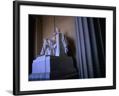 Lincoln Memorial Statue, Washington Dc, USA-Rick Gerharter-Framed Photographic Print