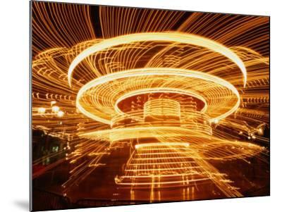 Christmas Merry-Go-Round Spinning on the Place De L'Hotel De Ville, Paris, Ile-De-France, France-Martin Moos-Mounted Photographic Print