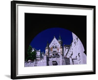 King Ludwig II's Neuschwanstein Castle, Fussen, Bavaria, Germany-Johnson Dennis-Framed Photographic Print