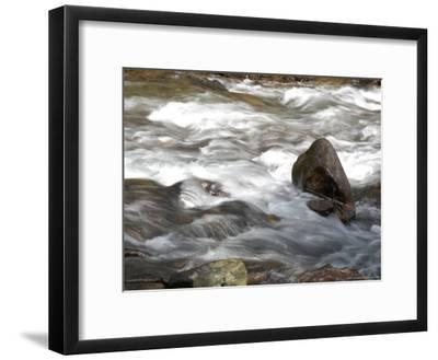 Whitewater Rushes Over Rocks in a River in Montana-Stacy Gold-Framed Photographic Print