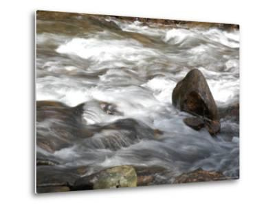 Whitewater Rushes Over Rocks in a River in Montana-Stacy Gold-Metal Print