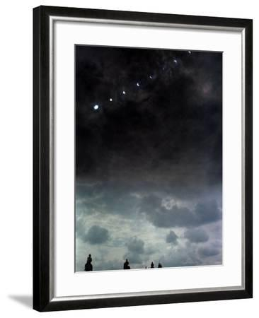 Solar Eclipse at Lambourn, August 1999--Framed Photographic Print