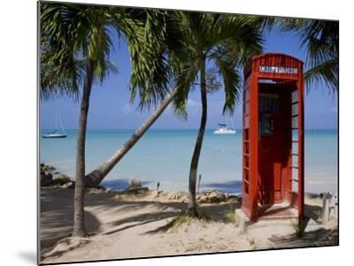 Caribbean, Antigua, Dickenson Bay, English Red Telephone Box-Gavin Hellier-Mounted Photographic Print
