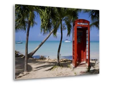 Caribbean, Antigua, Dickenson Bay, English Red Telephone Box-Gavin Hellier-Metal Print
